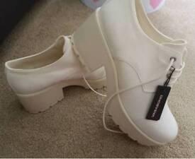 Ladies white shoes