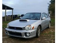 2002 subaru impreza wrx turbo 4x4 tax and tested unmolstered example £2475 ovno