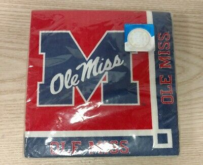 Ole Miss Rebels NCAA College Football Game Day Sports Party Beverage Napkins - Ole Miss Party Supplies