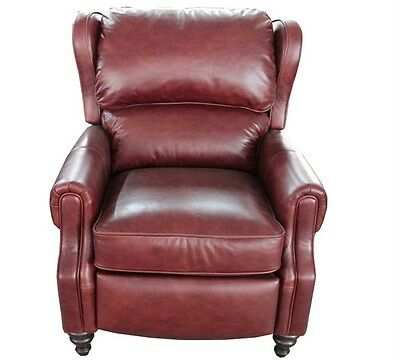 New Genuine Barcalounger Savannah Whiskey Lounger Leather Re