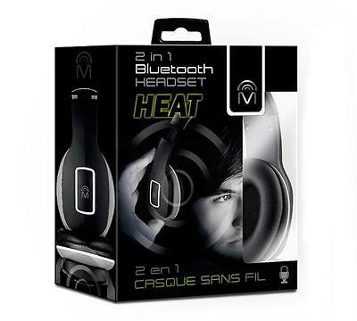 Mental Beats Heat 2-in-1 Bluetooth Wireless Headphone Headset 83523 - - 1 Black Wireless Headphone