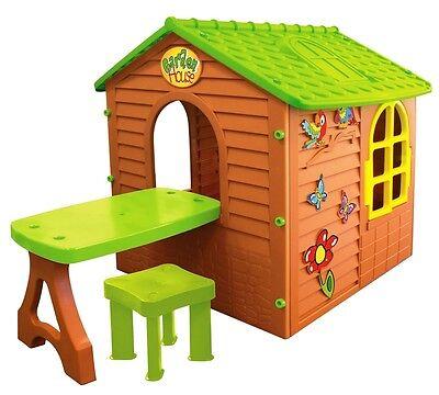 MochToys Kinderspielhaus Gartenhaus Spielhaus für Kinder + stuhl
