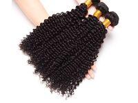 "Afro Kinky Curly Hair Peruvian Hair Bundles 100% Human Hair Bundles 3pc Extension 20"" 22"" 24"""