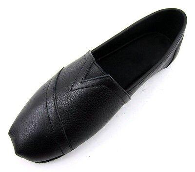 Womens Non Slip Oil Resistant Work Leather Shoe Black White Size Fashion Slip-On