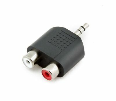 3.5 mm Male Stereo Plug to 2 RCA Female Jack Audio Y Splitter Adapter