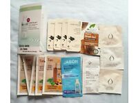 Skincare samples living nature tan Organic ren madara jason mask shampoo natural