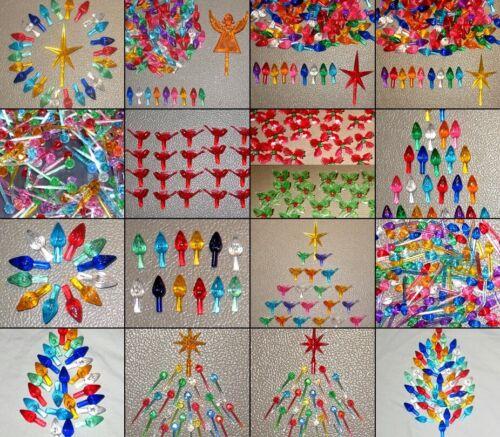 Ceramic Christmas Tree Bulbs Lights Small Med/Large Twist Star FREE SHIP