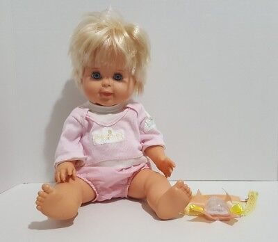 1989 Ideal Nursery BETSY WETSY Potty Training Doll With Outfit/Headband
