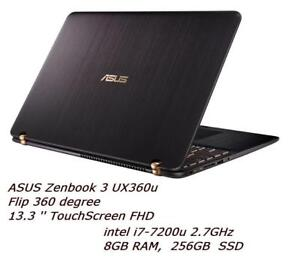 ASUS ZENBOOK 3 UX360UA Flip 360 degree 13.3'' Touchscreen FHD,Intel  i7-7200u 2.7 GHZ, 8GB, 256 GB SSD