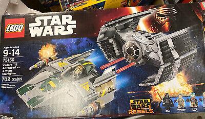 LEGO Star Wars Vader's TIE Advanced vs. A-Wing Starfighter (75150)