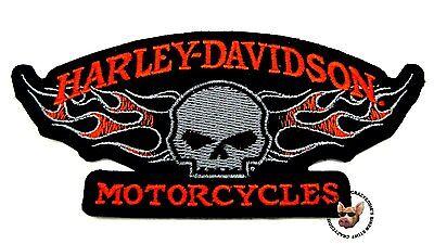 HARLEY DAVIDSON MOTORCYCLE WILLIE G FLAMING SKULL VEST JACKET PATCH