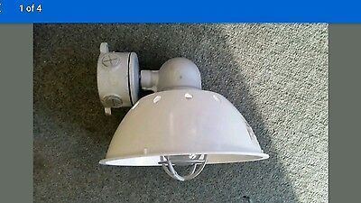 Vintage crouse hinds light fixture with globe and guard