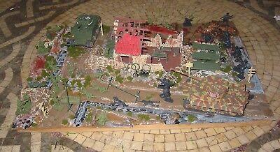 World War 2 Battle Front Diorama on Wood
