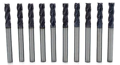 10pcs 18 4 Flute Single End Tialn Coated High Quality Korea Carbide End Mills