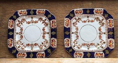 Pair Of Stunning Vintage/Antique St Michael China Side Plates/Imari/Fine Bone