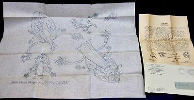 "Vintage Laura Wheeler UNCUT ""Cutwork"" Pattern w/Instructions"