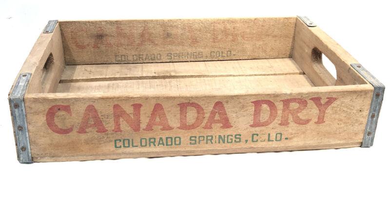 Vintage Canada Dry Wood Soda Crate Colorado Springs