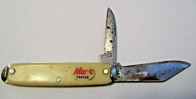 VINTAGE MACK TRUCKS ADVERTISING FOLDING BLADE POCKET KNIFE ~ MADE IN U.S.A.