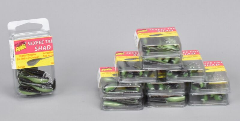 Arkie Sexeee Tail Shad Pumpkin Tennessee Pink Panther Lot of 4 packs of 8