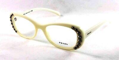 PRADA EYEWEAR FRAME VPR 21R VPR21R 7S3-1O1 White Cream eyeglasses 53-19--140