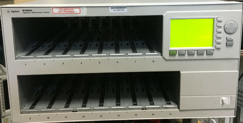 Agilent / Hp 8166a Lightwave Mainframe