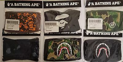 A Bathing Ape Face Mask Collection Camo Bape Head Baby Milo Shark Blue Green - Baby Mask