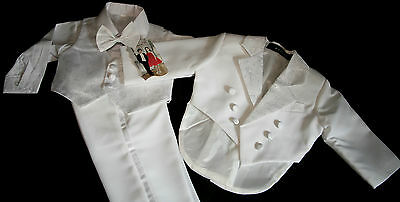 g Baby Frack Anzug Taufanzug Babyanzug Weiß 0-18 Monate (Kinder Frack)