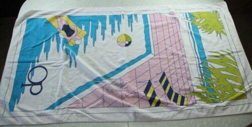 FLAW Vintage 80s Ocean Pacific OP Beach Towel Art Geometric Vaporwave Surf