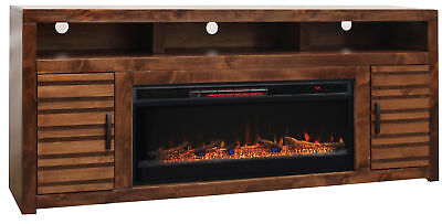 """Loon Peak Belle Isle 78"""" TV Stand Electric Fireplace"""