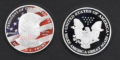 Donald Trump Silver Eagle Coin Make America GREAT Again 45th President