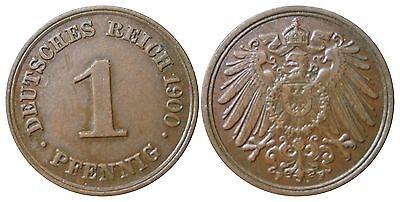 J 10   1 Pfennig Kaiserreich 1900 F in VZ-STG  502805