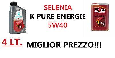 Olio Motore SELENIA K PURE ENERGY MultiAir5W40 4 LITRI - ACEA C3 -MIGLIOR PREZZO