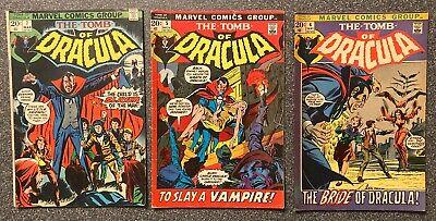 Tomb Of Dracula #'s 4, 5 & 7 (3 Books) Marvel Comics