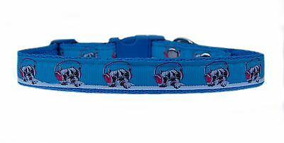 "Buy cheap BLUE ""FRENCH BULLDOG IN HEADPHONES "" medium breed dog puppy collar or & set products"