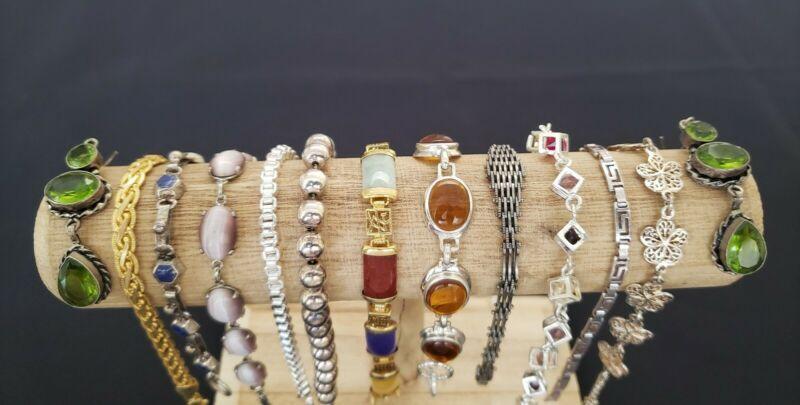 Lot of vintage modern bracelets earrings gemstones