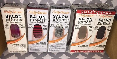 5 Different Sally Hansen Salon Effects Real Nail Polish Strips Holiday New! - Halloween Sally Nails