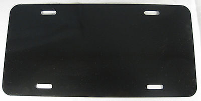 BLANK BLACK METAL LICENSE PLATE MAKE YOUR OWN SIGN NEW L819