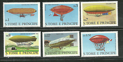 ST THOMAS AND PRINCE 561-66 MNH DIRIGIBLES SCV 9.65