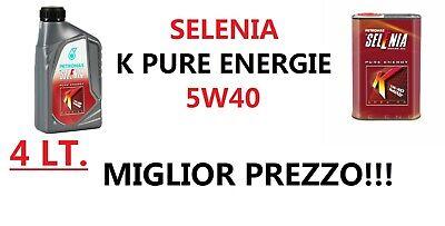 Olio Motore SELENIA K PURE ENERGY MultiAir 5W40 4 LITRI ACEA C3 MIGLIOR PREZZO!