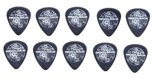 Nickelback Mike Kroeger Lot of 10 Black Guitar Picks - 2012 Here And Now Tour