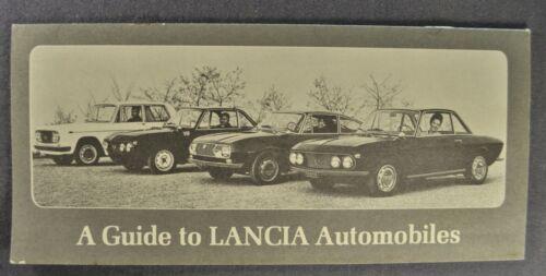 1967-1968 Lancia Brochure Fulvia GT Flavia Coupe Convertible Flaminia Original