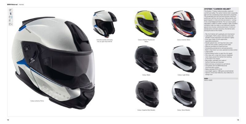 bmw system 7 carbon helmet not even worn | motorcycle & scooter