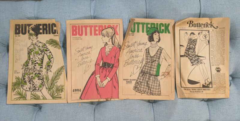Butterick Vintage Fashion News July Sept Oct 1969 April 1972 Issues