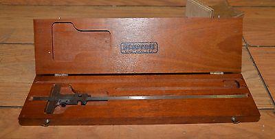 Starrett No 448-12 Machinist Vernier Depth Gauge Gage Inspection Tool 0-12 Inch