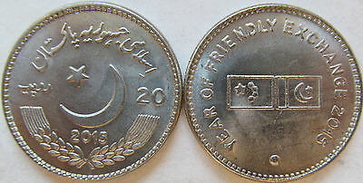 PAKISTAN 2011 20 RUPEES 150 YEAR LAWRENCE COLLEGE GHORA GALI MURREE COIN UNC