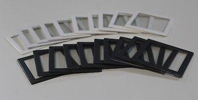 20 Stück Gepe Mittelformat Diarahmen Glas 6x6 verglast Antinewton Dia Rahmen