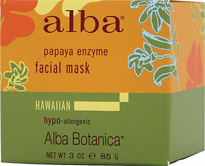 - 2 Pack Papaya Enzyme Facial Mask, Alba Botanica, 3 oz