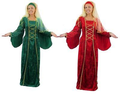 DAMEN TUDOR KÖNIGIN KOSTÜM MITTELALTER  PRINZESSIN VERKLEIDUNG FASCHING - Tudor Damen Kostüm