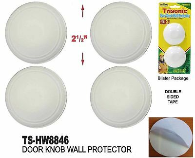 4 PACK WALL PROTECTOR DOOR KNOB PREVENT DRYWALL HOLES DINGS NEW ROUND SHIELDS