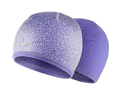 a5f070842a8 NIKE Women s Reversible Running Beanie Dri-Fit Reflective Hat - Purple Size  S M